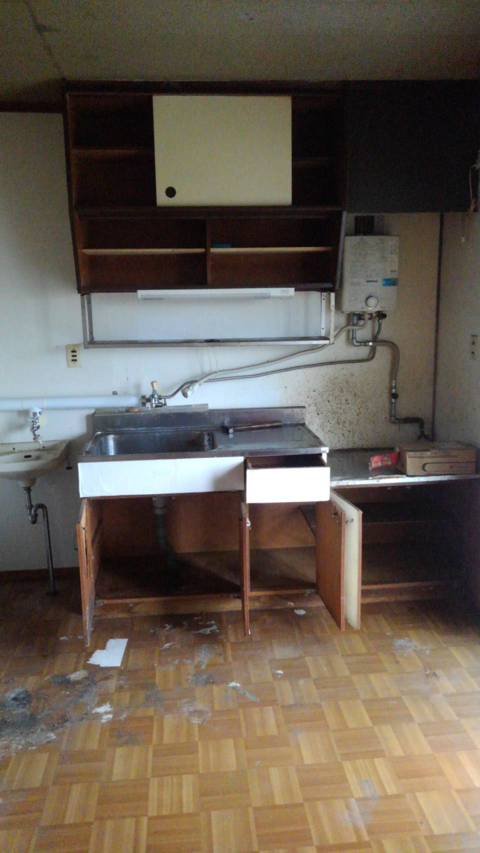 ゴミの撤去後 台所