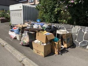 搬出したゴミ