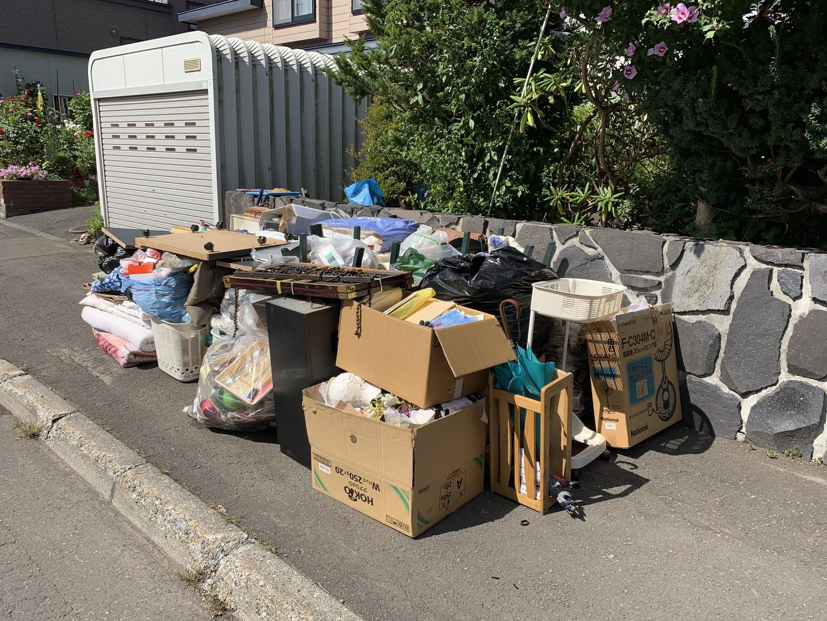 粗大ゴミの搬出