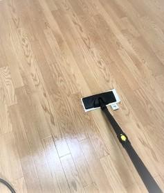 床のスチーム清掃