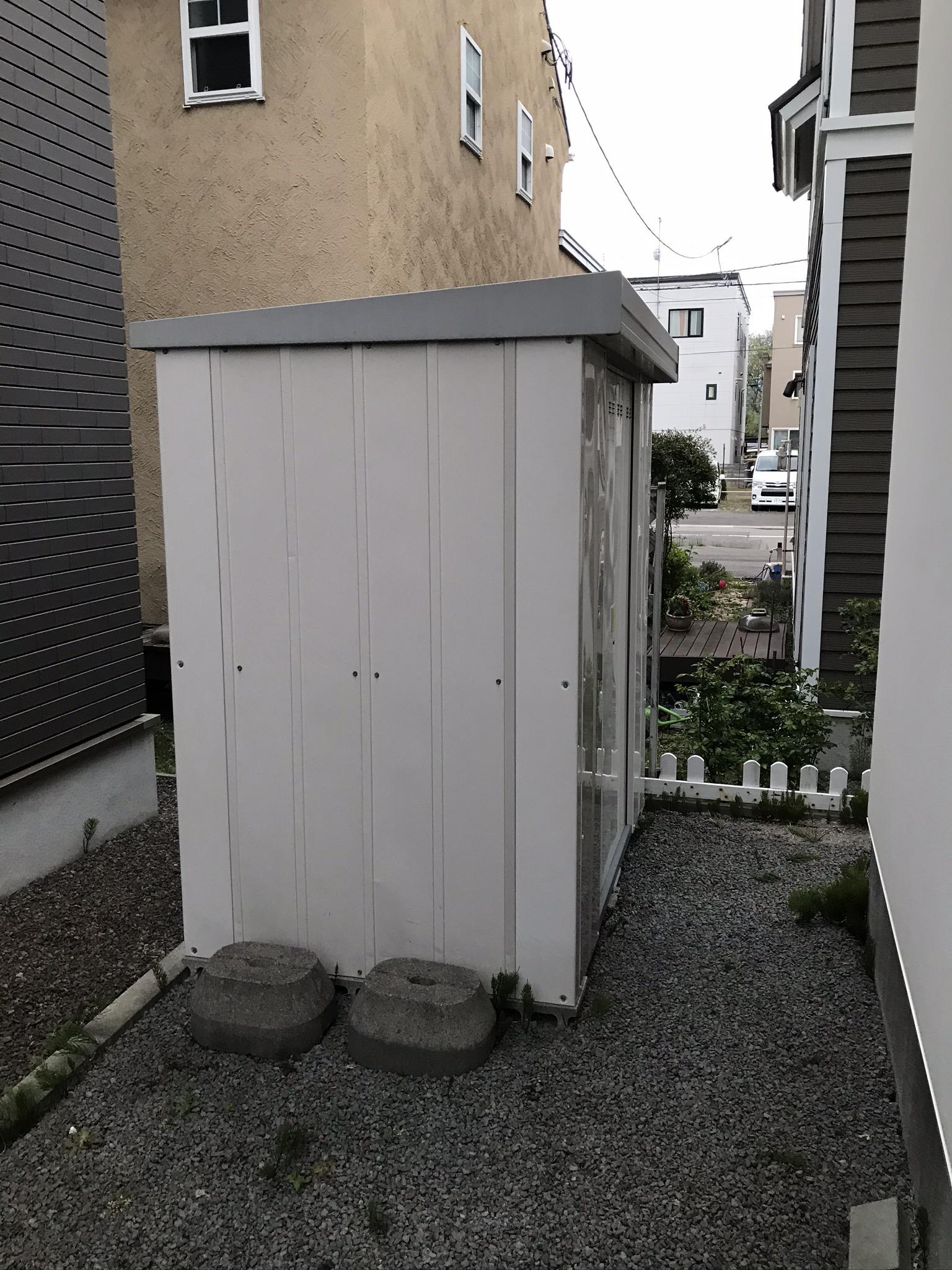 東区|戸建て住宅から小型物置の処分依頼|S様
