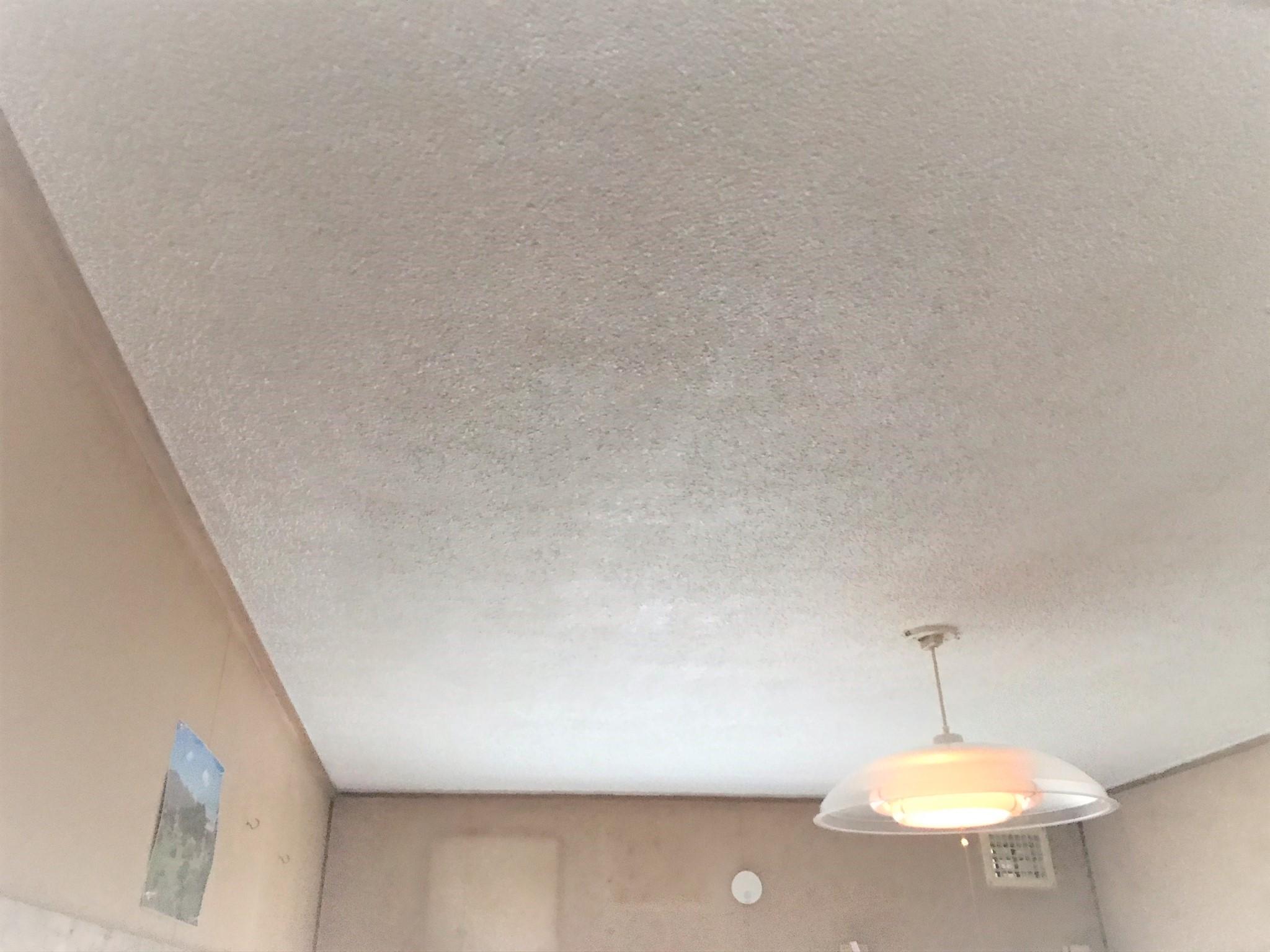 天井の塗装作業