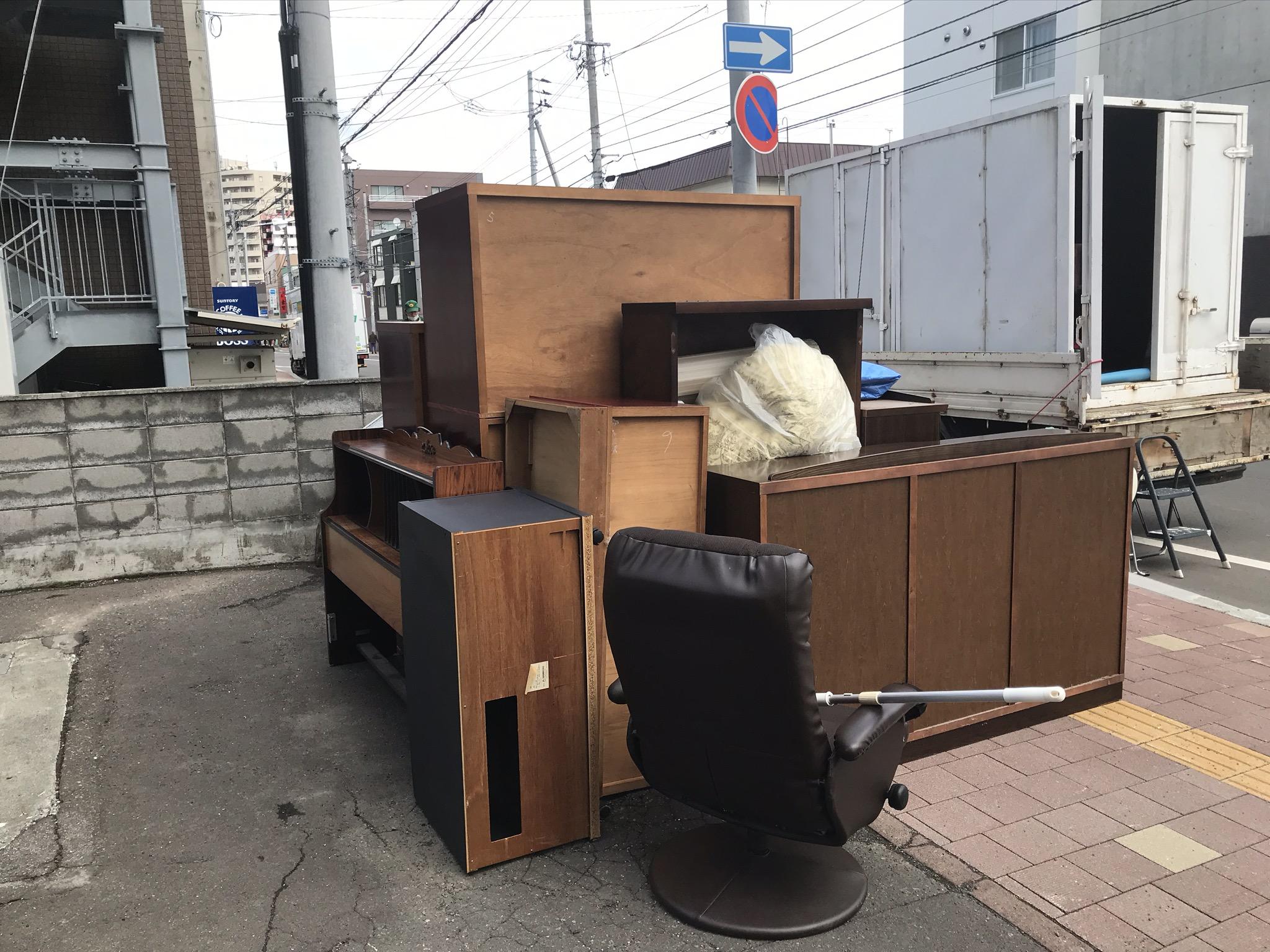 厚別区厚別南|集合住宅から不要なった大型家具の搬出依頼|M様